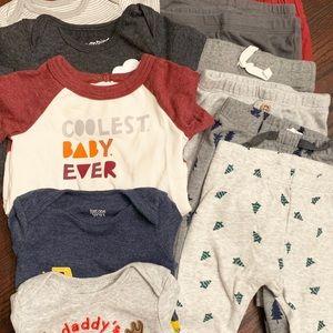 Bundle of 3 Months Onesies and Pants (Set of 12)
